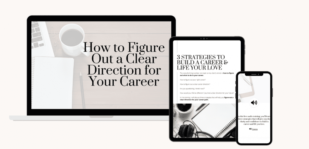 How to Figure Out a Clear Direction in Your Career_Audio Training